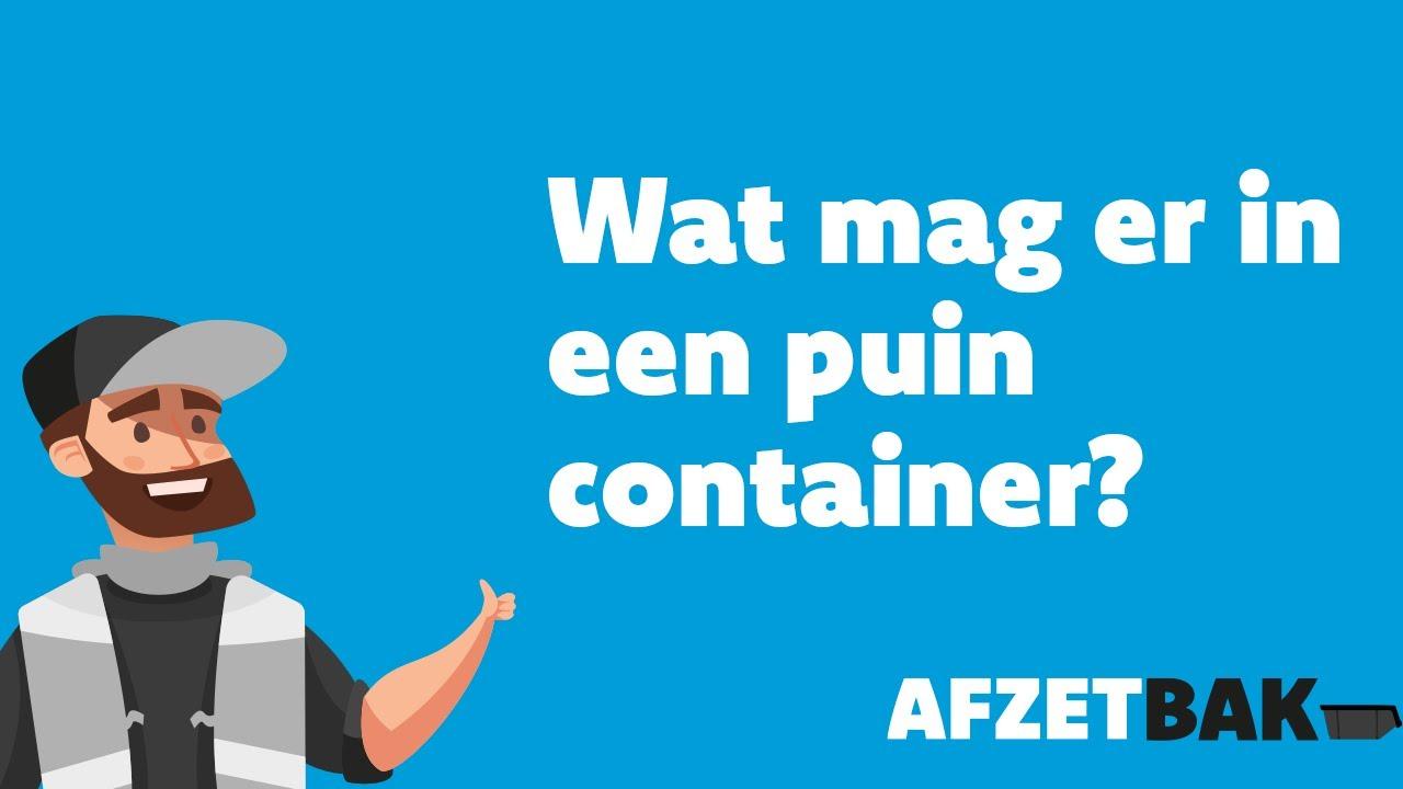Wat mag er in een puin container?